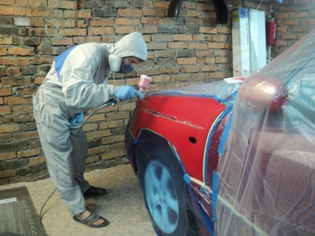 Как покрасить авто в гараже своими руками